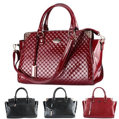 Fashion Women Ladies Patent Leather Handbag Purse Tote Shoulder Messenger (Patent Leather Messenger)