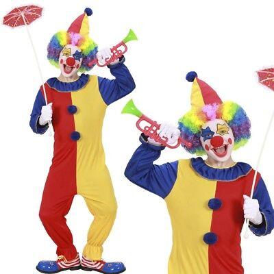 CLOWN KINDER KOSTÜM Gr. 134/140  Karneval Fasching Jungen Zirkus Kostüm #2577