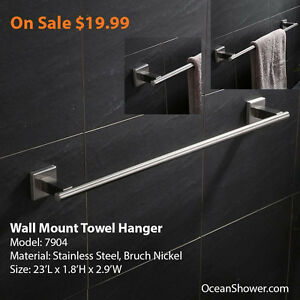Wall Mounted Towel Rack / Shelf / Holder Stainless Steel London Ontario image 4