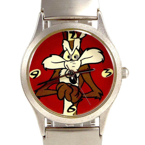 Wile E. Coyote New Fossil Warner Bros. Metal Band Unworn Collectible Watch! $115