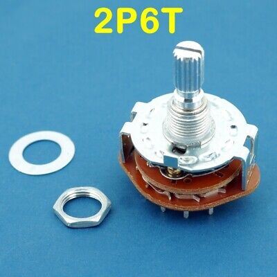 1 Band Switch 2p6t Rotary Selector Mbb 2 Pole 6 Throws