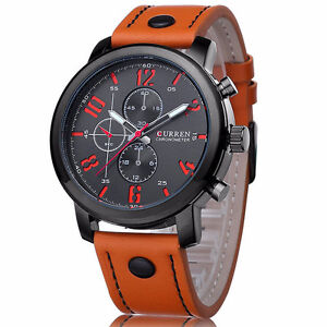 Men's Watch with Leather belt!