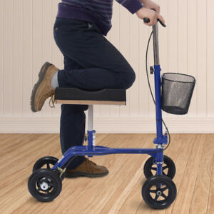 Knee Walker / Steerable Knee Walker Scooter w/ Basket Blue
