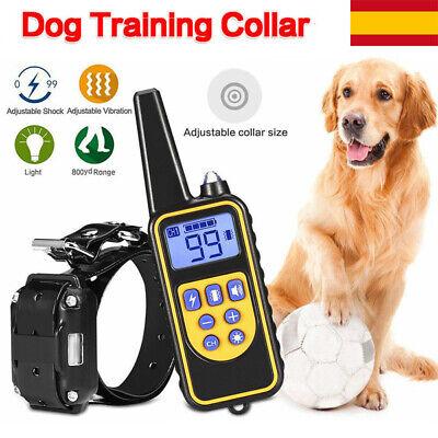 Collar de Adiestramiento Recargable para Perro Electrico Antiladridos LCD 800m