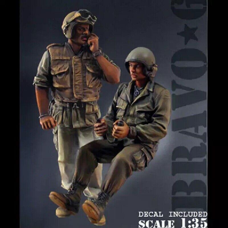 1//35 Resin Figure Model Kit Vietnam War US Soldiers Unpainted Unassambled