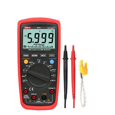 Uni-t Ut139e True Rms Digital Multimeter Lcd Dmm Lpf Loz Ncv Ammeter Multitester
