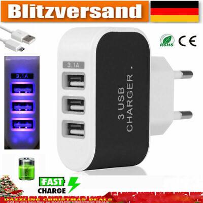 5V 3.1A LED 3USB Ports Netzteil Home Reise AC Ladegerät Handy Adapter EU Stecker 5v Ac 1a Usb