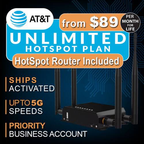 UNLIMITED HOTSPOT DATA PLAN w/Router - Plans from $89 Mo with No Contract