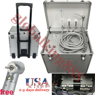 550w Dental Portable Mobile Delivery Unit Rod Bages Suitcase With Compressor