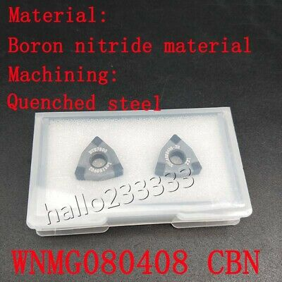 2pc Wnmg080408 Cbn Wnmg432 Cnc Inserts Boron Nitride Material For Quenched Steel