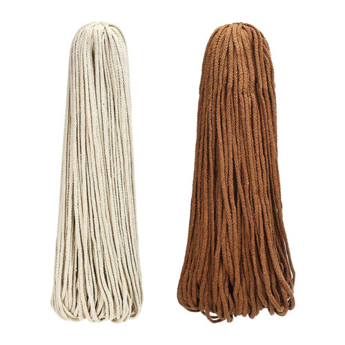 90m x 5mm Natural Beige Cotton Twisted Cord Rope Craft Macra