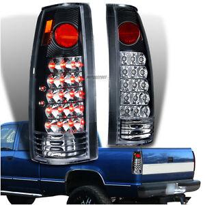 1988 1998 chevy c k silverado pickup truck black clear led. Black Bedroom Furniture Sets. Home Design Ideas