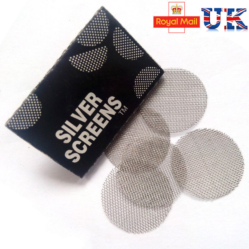 Metal Pipe Screens Silver, Gauzes Premium Steel For Pipes Screens Free Postage