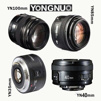 Yongnuo YN 35mm  40mm 50mm 100mm EF Prime Fixed Lens for Nikon DSLR EOS Photo