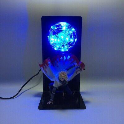 """4th Gen Naruto Minato Namikaze DIY Anime Statue Figurine Figures 14"""" LED Lamp, usado comprar usado  Enviando para Brazil"""