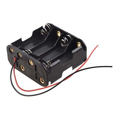 8pcs Aa Cells Battery 12v Clip Holder Box Case Black C2j9