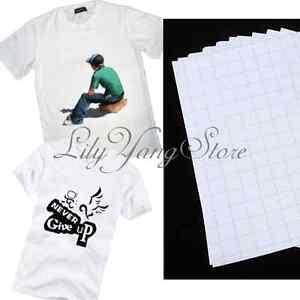 20pcs-T-Shirt-A4-Iron-On-Inkjet-Print-Heat-Transfer-Paper-For-Light-Fabric-Cloth