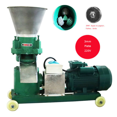 3mm Chicken Feed Pellet Mill Machine 220V Pelletizer Movable Save Time 239172