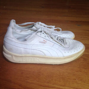 Vintage White Puma Sneakers Trainers Shoes 9 11 Unisex Men's Wom