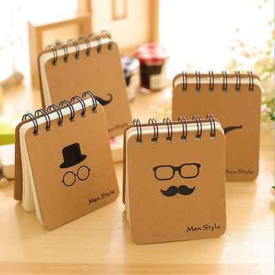Super Cute Moustache Notebook Kraft Paper Notepad Journal Diary Stationery