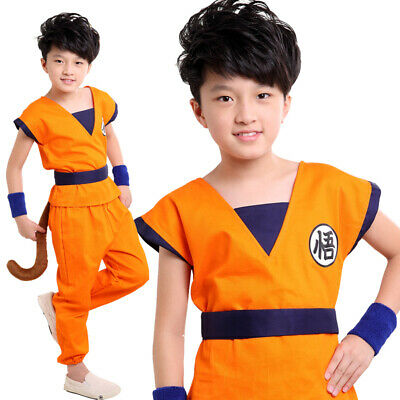Dragon Ball Son Goku kostüm kinder shirt hosen - Dragon Ball Son Goku Kostüm