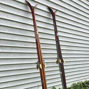 2 pair Cross Country Skis