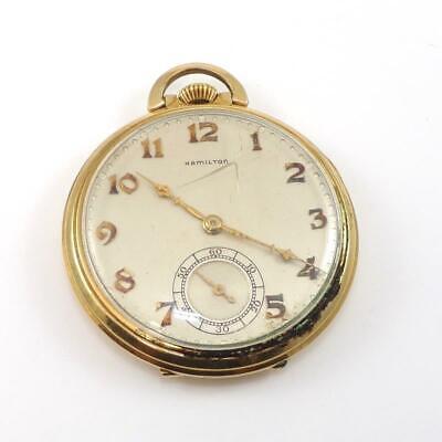 Vintage 1936 Grade 917 Hamilton Gold Filled Pocket Watch QZG3