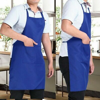 Cooking Apron For Men Women Kitchen Bib Aprons BBQ Baking Restaurant With Pocket Aprons