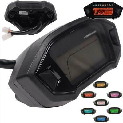 12V 14000RPM Digital Motorcycle Gauges Speedo Tachometer Odo Indicator Km/h MPH
