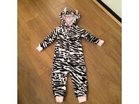 Next Zebra onesie with ears age 2-3. Cute on ❤️