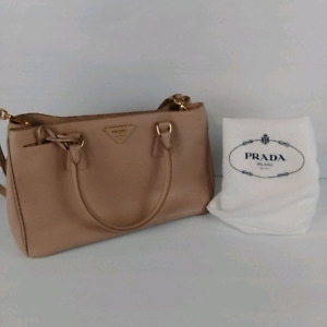 PRADA Saffiano Lux Tote Double Zip Medium Shoulder Bag Dust Bag.