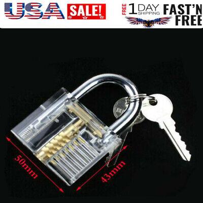 Practice Transparent Visable Practice Cutaway Lock Padlock Locksmith Training