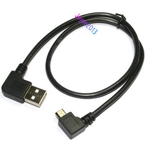 New Universal Short 50cm Right Angle 90 Degree Micro B USB Data Charging Cable