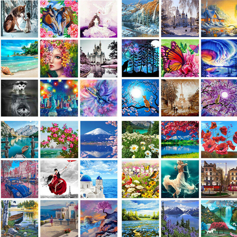DIY Scenery Paint By Number Kit Digital Oil Painting Art Wall Home Decor