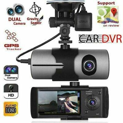 HD Car DVR Dash Cam Video Recorder Dual Lens GPS Camera G-Sensor Night Vision US