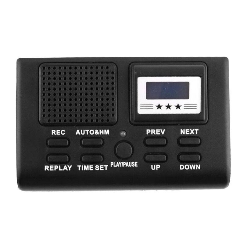 Digital Telephone Recording Box LCD Display Card Slot Voice Recorder FDUS PL