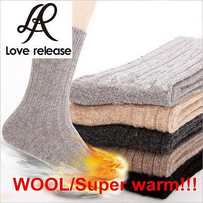 HOT!!5 Pairs Mens Super Warm THICKEN Wool Cashmere Socks BEST PRICE Size