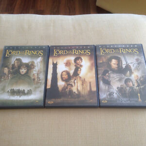 Lord of the Rings trilogy DVDs Cornwall Ontario image 1