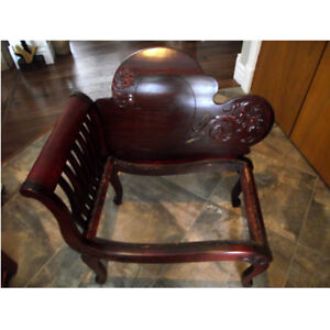 Antique 1800's Extra Wide Chair