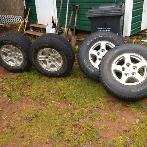 Dodge truck tires and rims,
