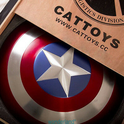 Metal Made  CATTOYS 1/1 Captain America Perfect Shield version Metal Prop cool