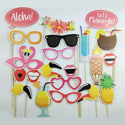 Photo Booth For Parties Diy (Hawaiian Themed Photo Booth Props Kit - DIY Luau Party Supplies for)