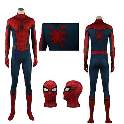 Latest Spiderman Homecoming Superhero Cosplay Costume Halloween Spandex Suit ](Halloween Suit Costumes)