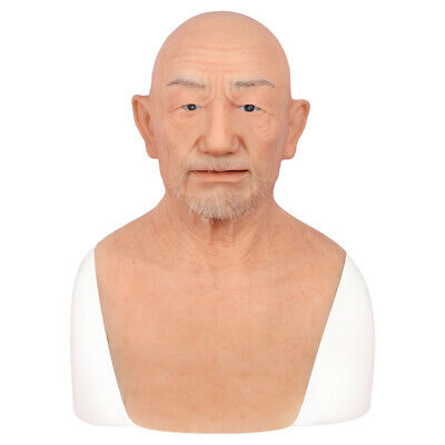 Party Face Masks (IMI Party Movie Props Realistic Silicone Old men face mask trick masks)
