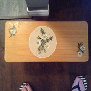 Solid maple hand painted stool