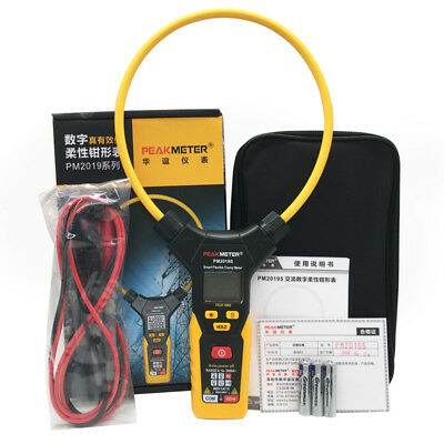 Peakmeter Pm2019s True Rms Smart Flexible Clamp Meter Ac 3000a Multimeter Ohmme