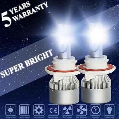 H13 9008 COB LED 2800W 420000LM Headlight Conversion Kit H/L Beam Bulbs 6000K