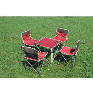 Outdoor Camping Picnic BBQ Table and 5PCS Chairs TY9002