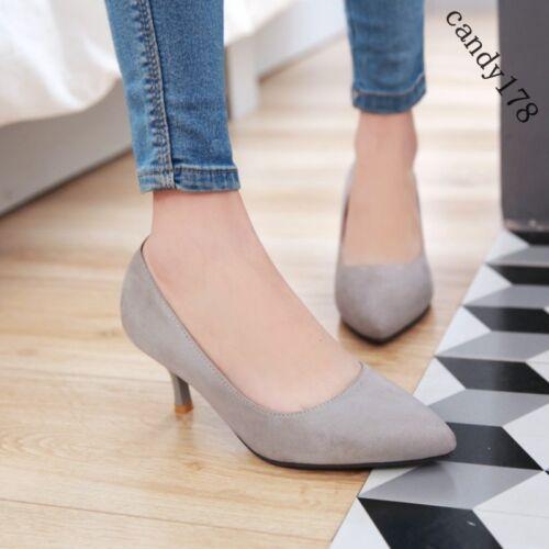 Plus Size 6 Cm Low Heels Women Pumps Point Toe Women Casual
