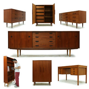 Vintage Mid Century Teak and Walnut Furniture
